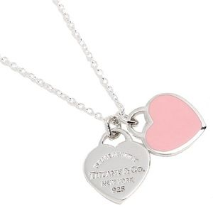 Return to Tiffany Double Heart Tag Necklace